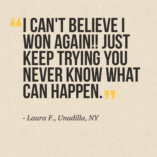 Winner Laura from NY